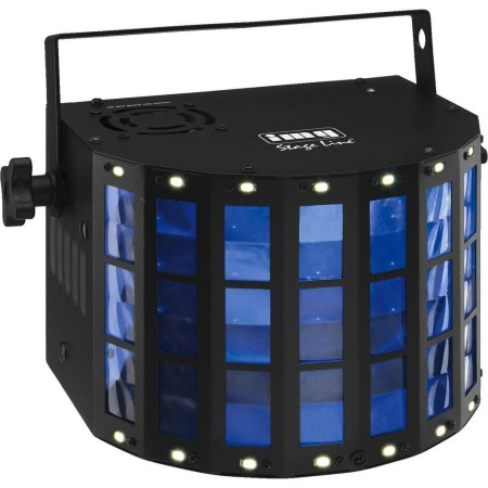 LED DMX light effect unit, 48 beams, with integrated stroboscope