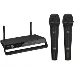 Digital wireless 2-channel PLL microphone system, 2.4 GHz TXS-2402SET