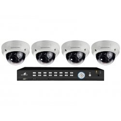 Video surveillance set model DMR-2880SET 4 colour dome cameras